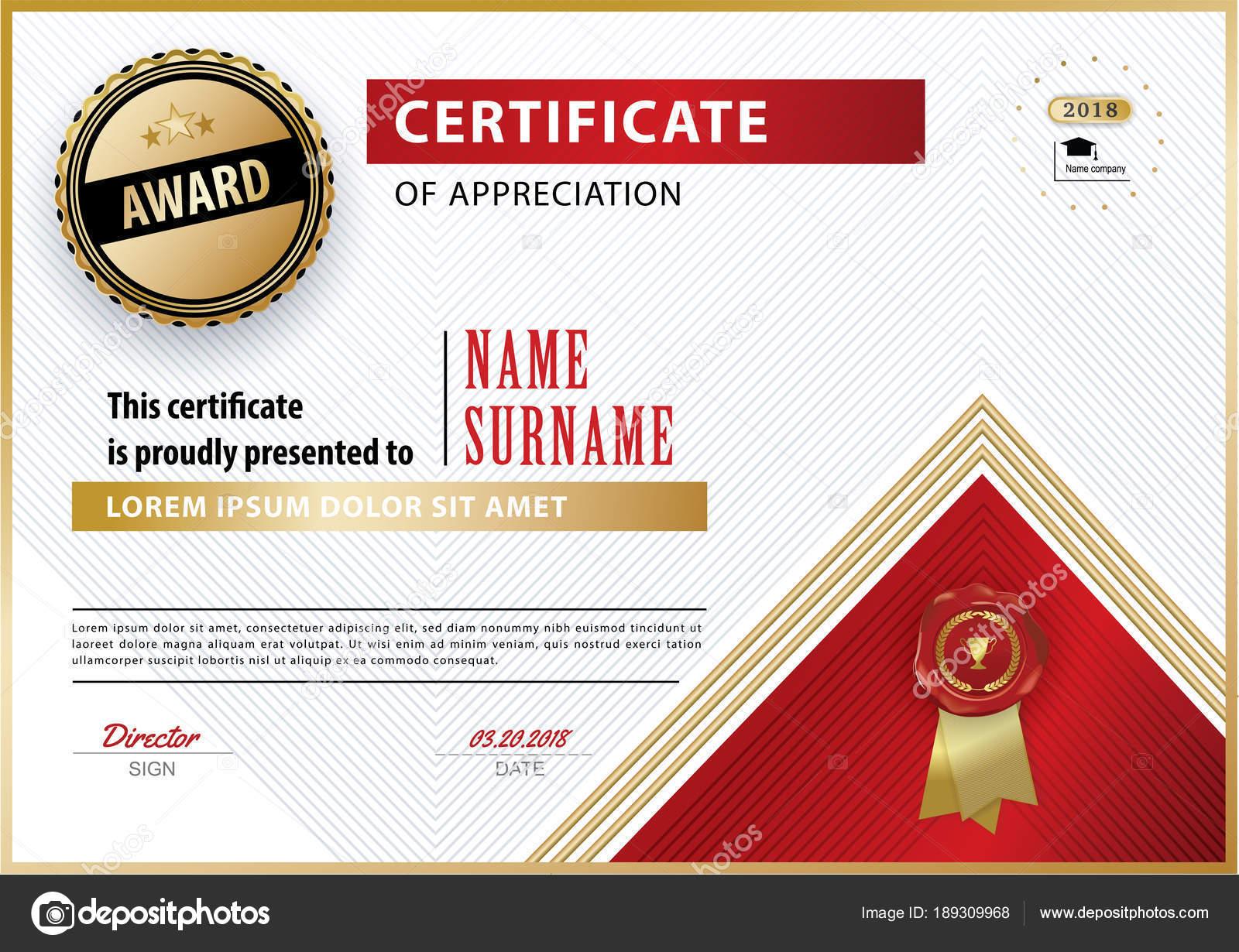 Offiziellen weißen Bescheinigung über die Anerkennung Auszeichnung ...