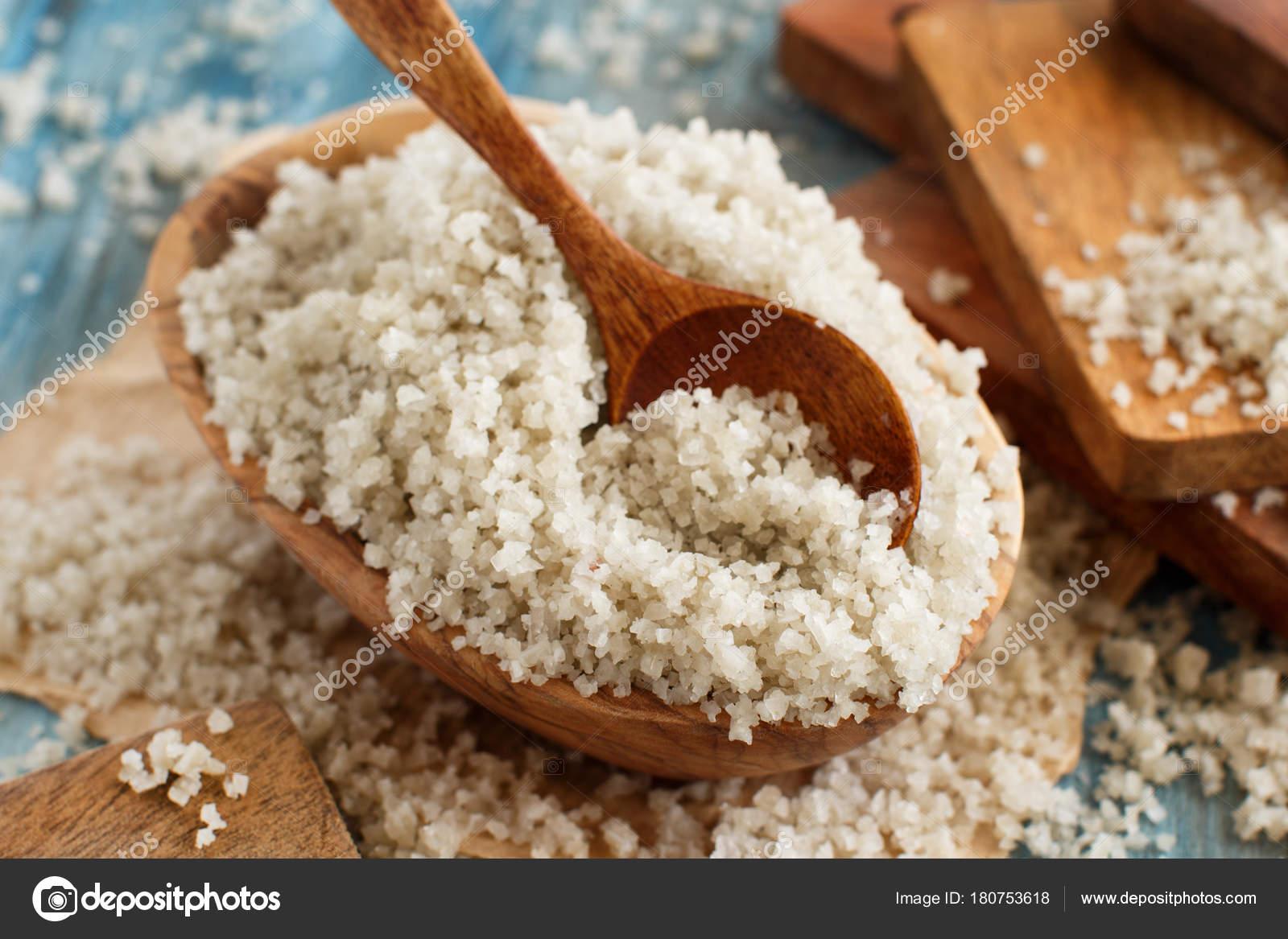 Celtic Grey Sea Salt from France — Stock Photo © karissaa