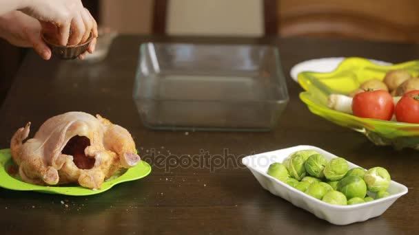 Pečené kuře na talíři