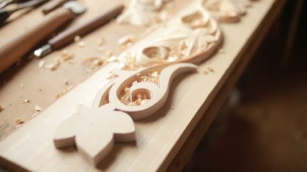 Hand sanding wooden decorative items, decorative elements,