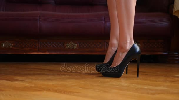 Black high heels with panties apologise