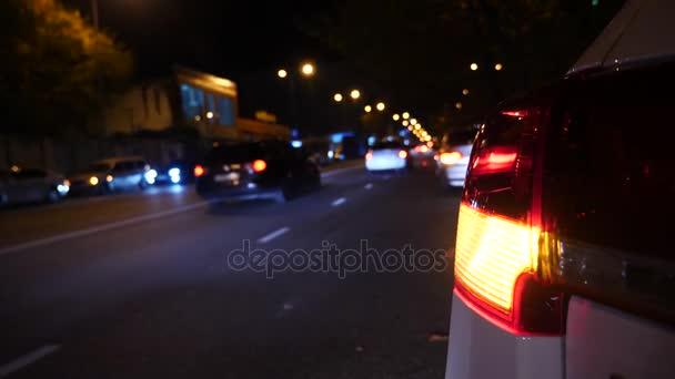 Nacht Auto Blinker Licht Het Waarschuwingslampje Van De