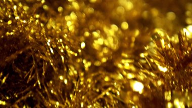 abstract background, shiny christmas tinsel. blur, selective focus. copy space