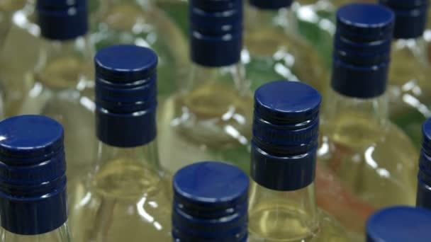 Lahví alkoholického nápoje close-up