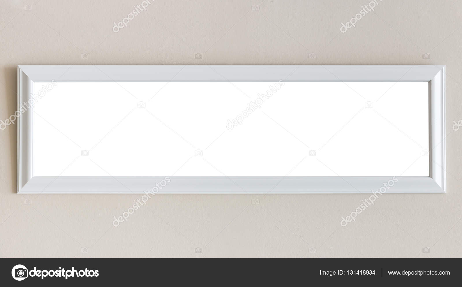 Witte Houten Fotolijst.Lege Witte Houten Fotolijst Aan De Muur Kamer Interieur Decora