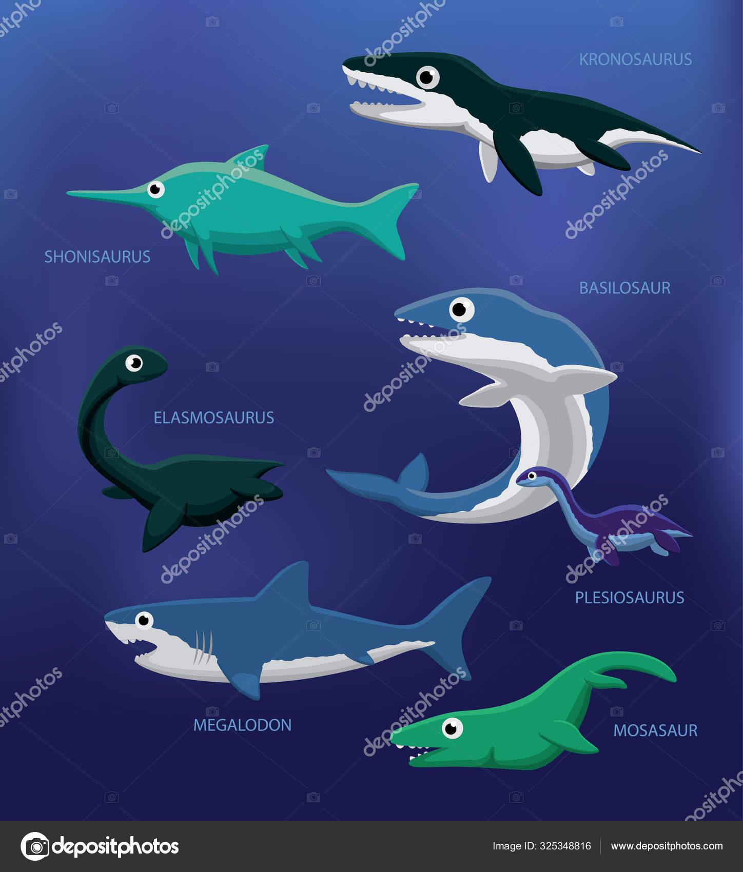 View Sea Monster Mosasaurus Coloring Page