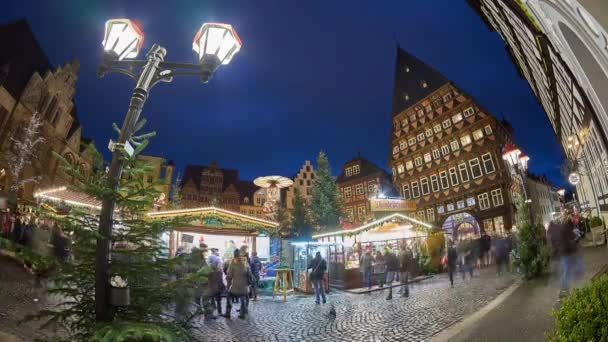Christmas Market on the historic market place in Hildesheim, Germany