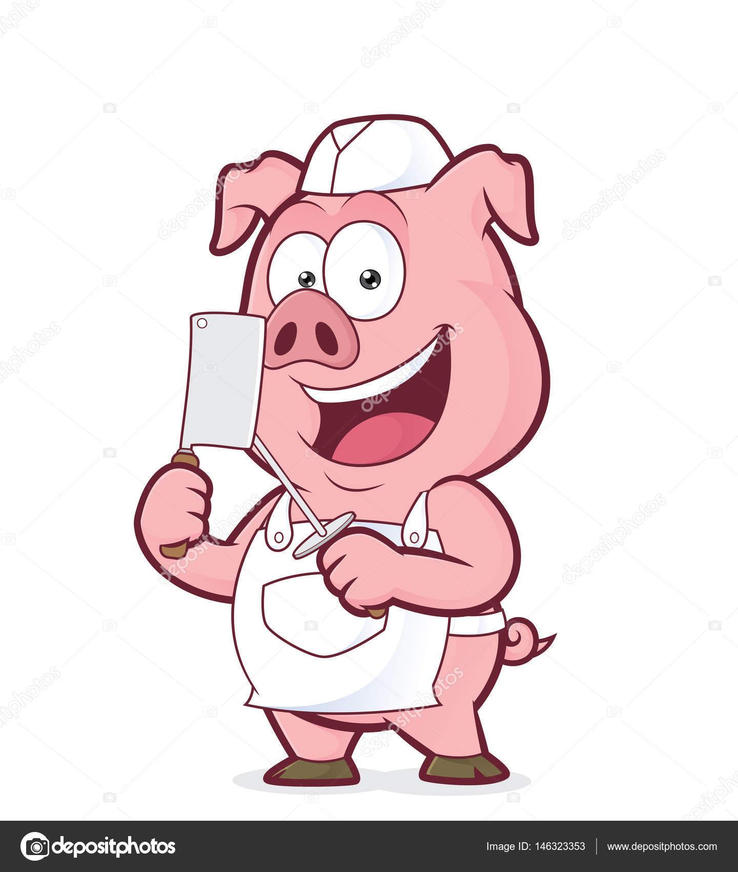 Dessin Boucher boucher de cochon souriant — image vectorielle sundatoon © #146323353