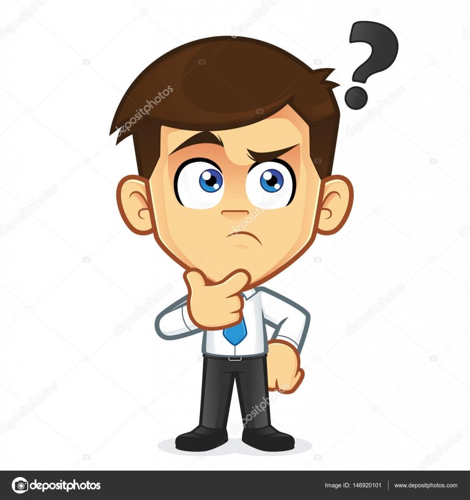 Dibujos Persona Pensando Dibujo Hombre De Negocios Pensando En