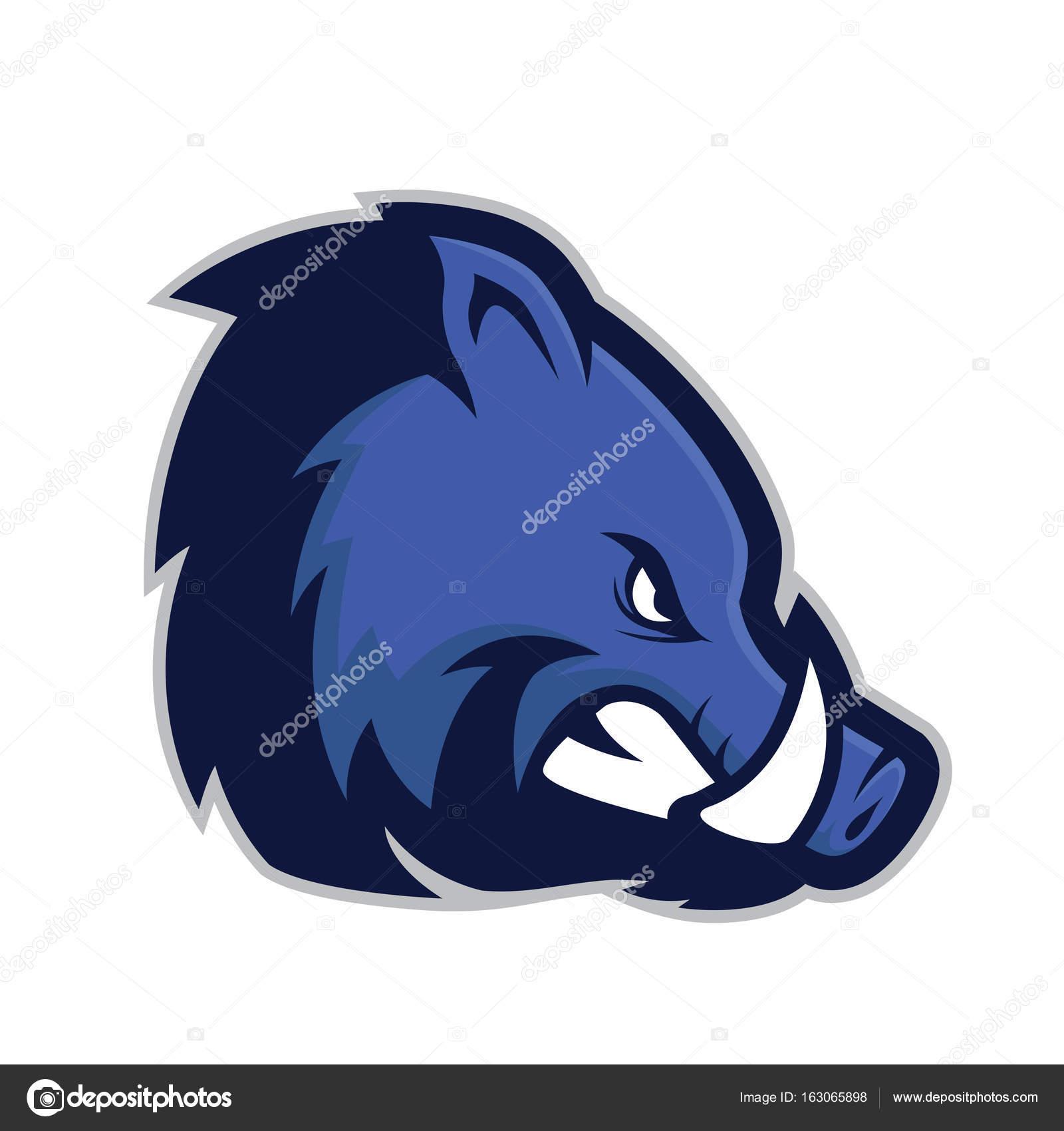 Wild Hog Or Boar Head Mascot Stock Vector Sundatoon 163065898
