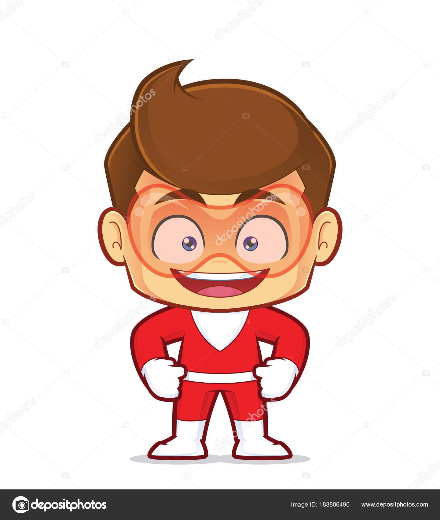 笑顔のスーパー ヒーロー漫画のキャラクターのクリップアート画像