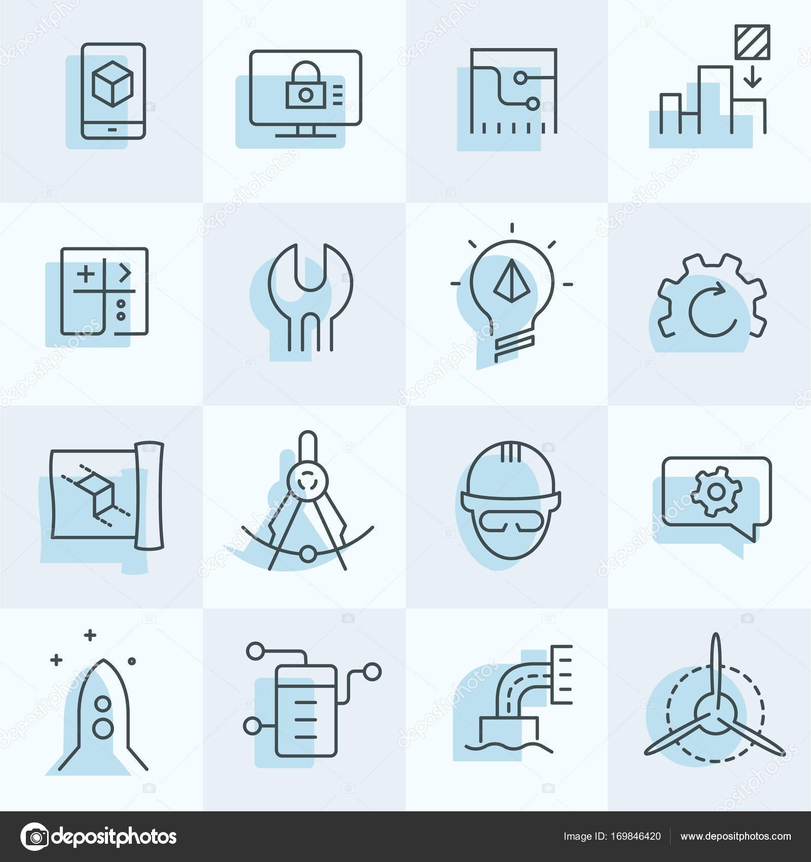 Technische Symbole-Satz — Stockvektor © epictextures #169846420
