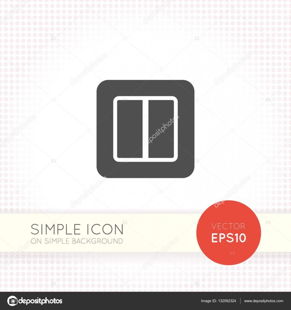 Power-Schalter-Symbol auf einfachen Hintergrund isoliert ...