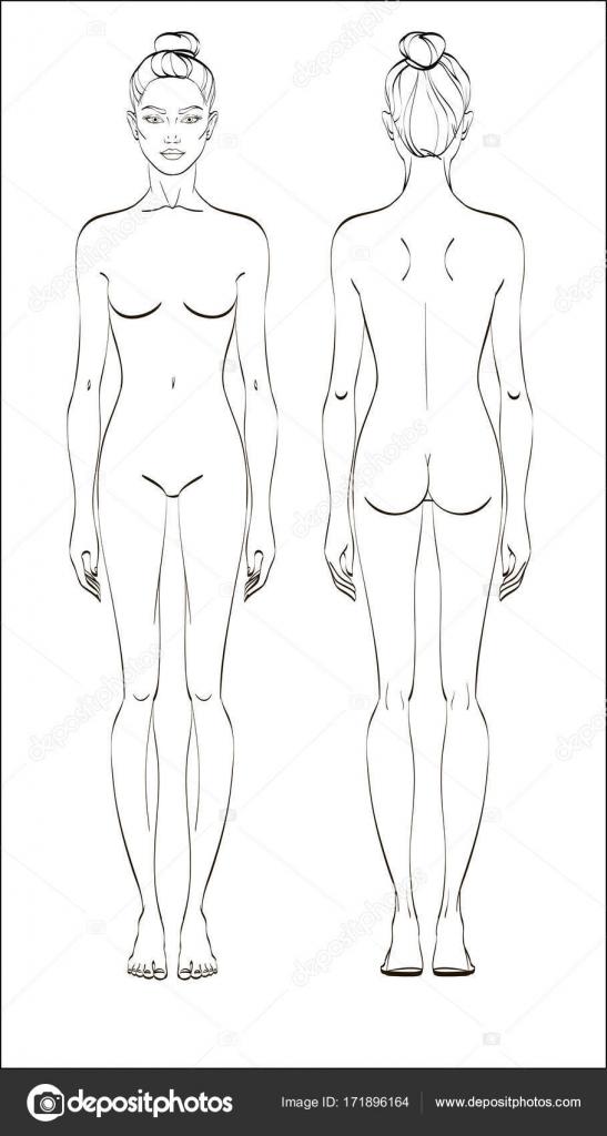Женская фигура сзади фото щупает грудь