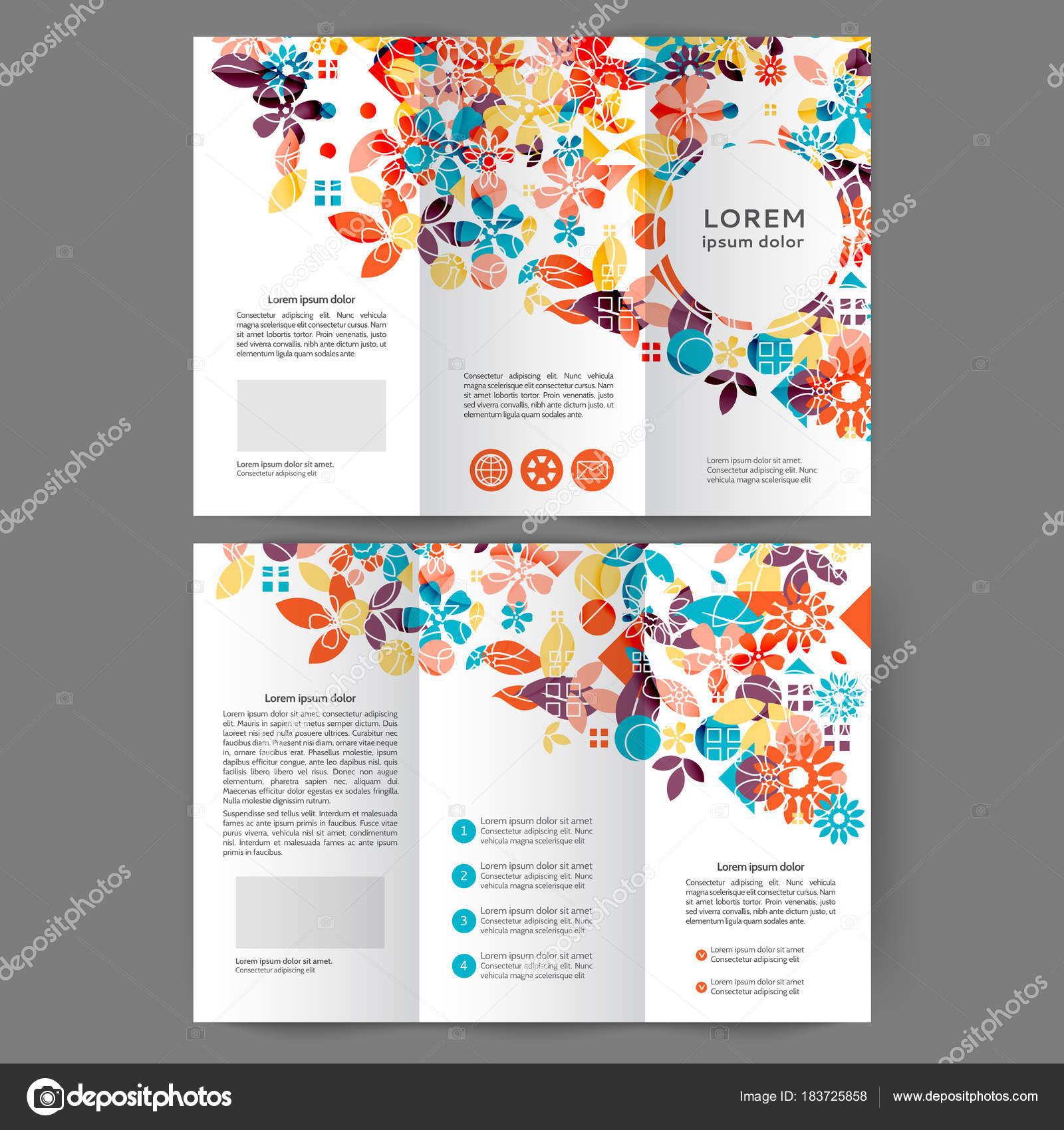 Folleto del negocio color tri fold — Vector de stock © Maria_lh ...