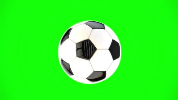 Soccer Ball Rotates on Green Screen and Stops in Slow Motion