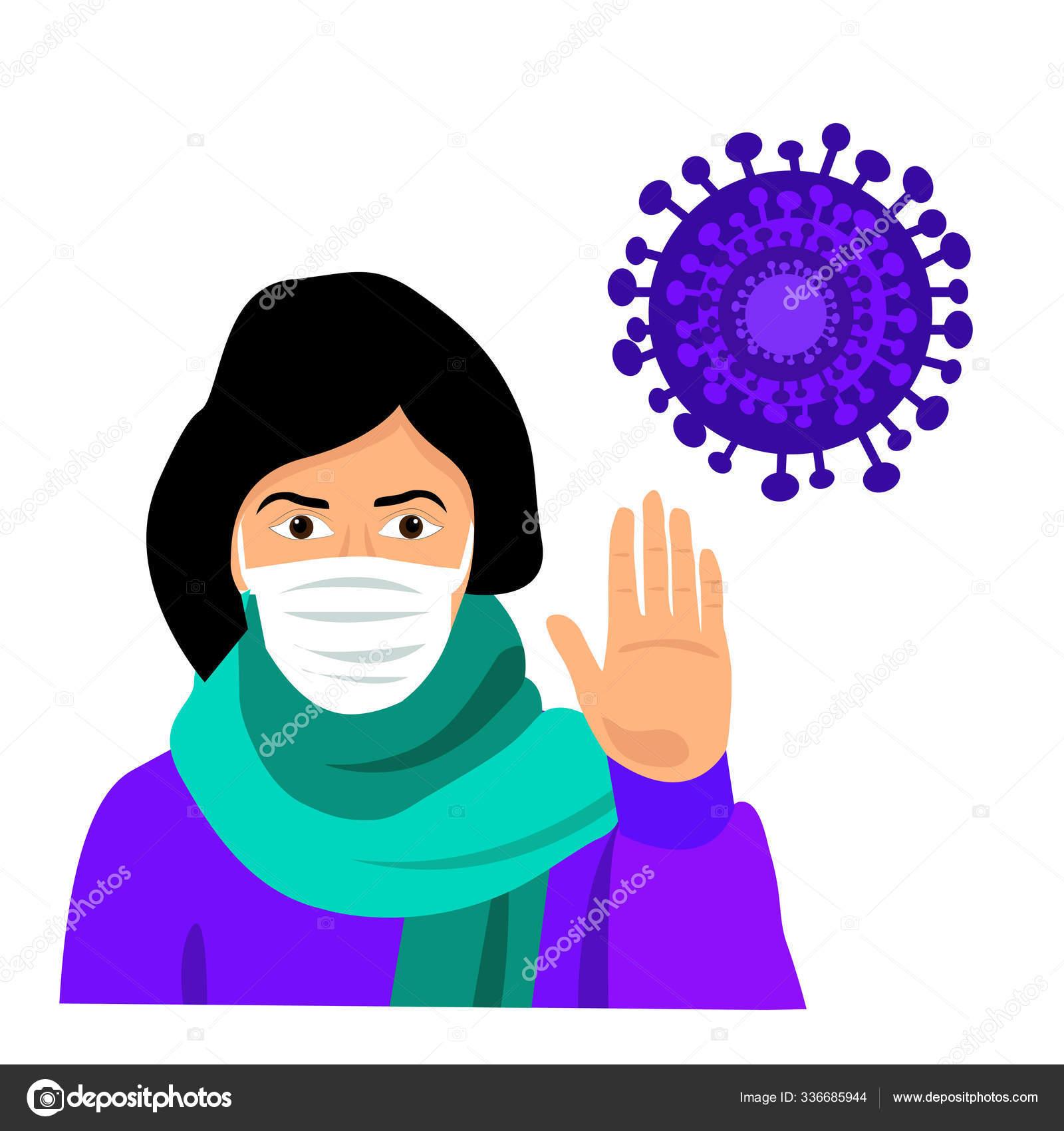 cold virus mask