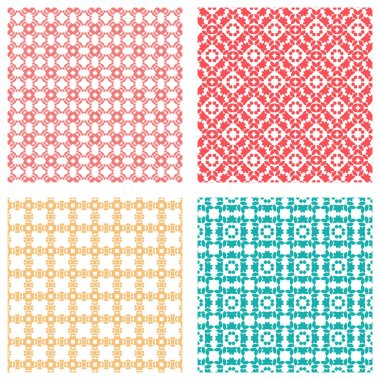 Geometric pattern collection for fabric, textile, print, surface design. Set of geometric patterns. Elegant geometric backgrounds collection