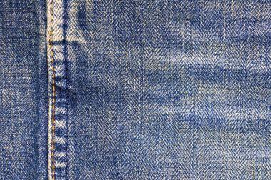 Jeans detail, blue old jeans, denim