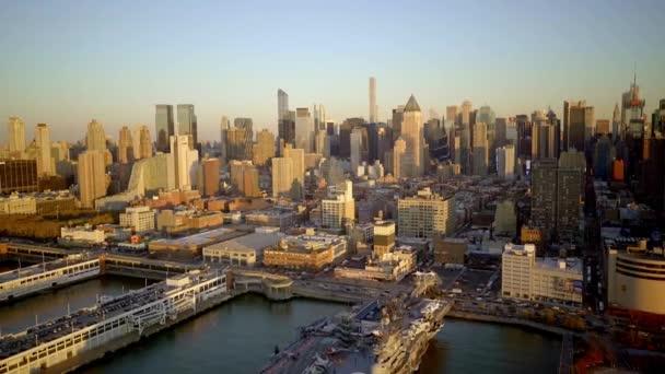 aerial view of city metropolis skyline