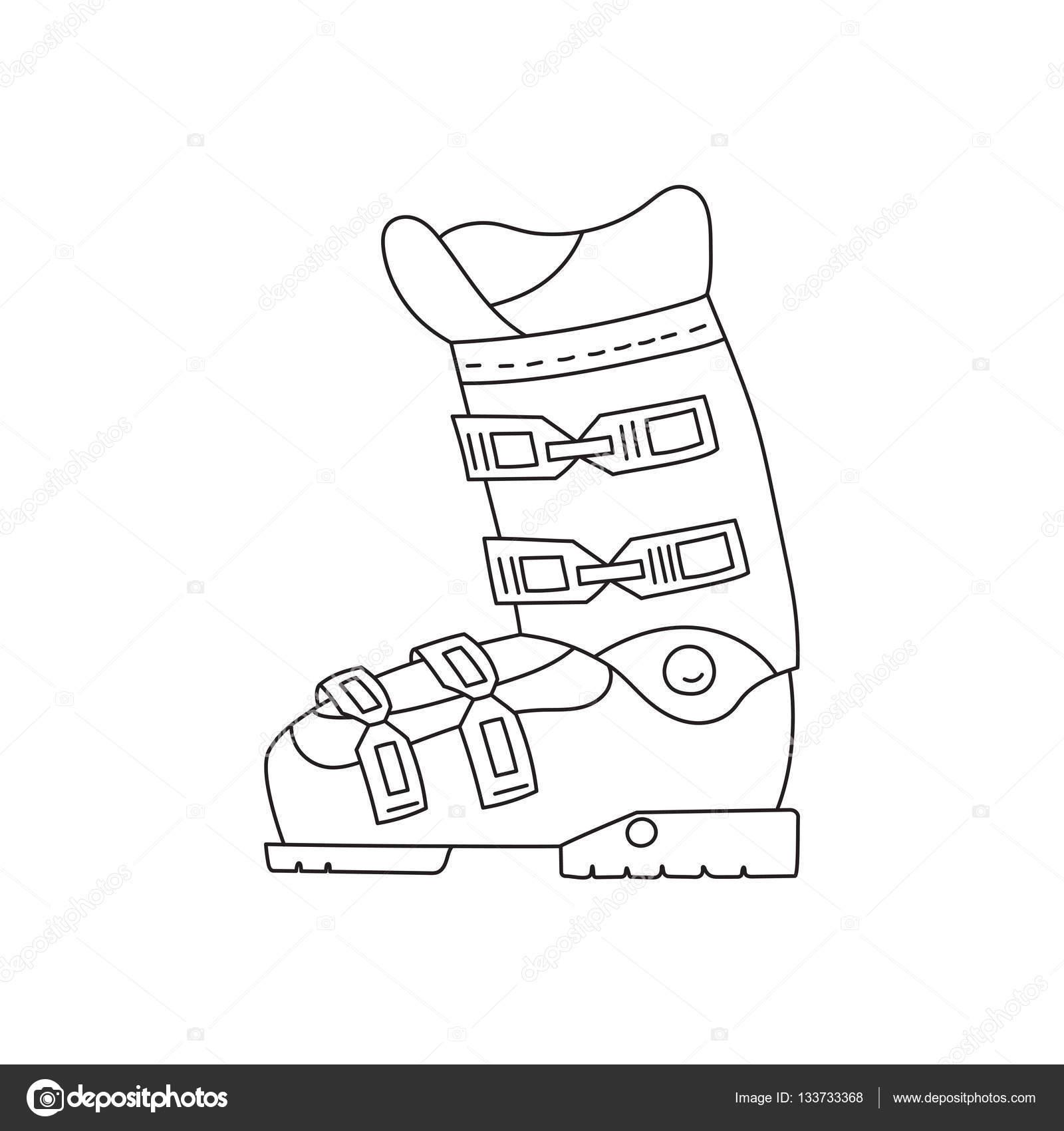 quality design 9045d 49e8b Vettore: di scarponi da sci | Linea di scarponi da sci ...