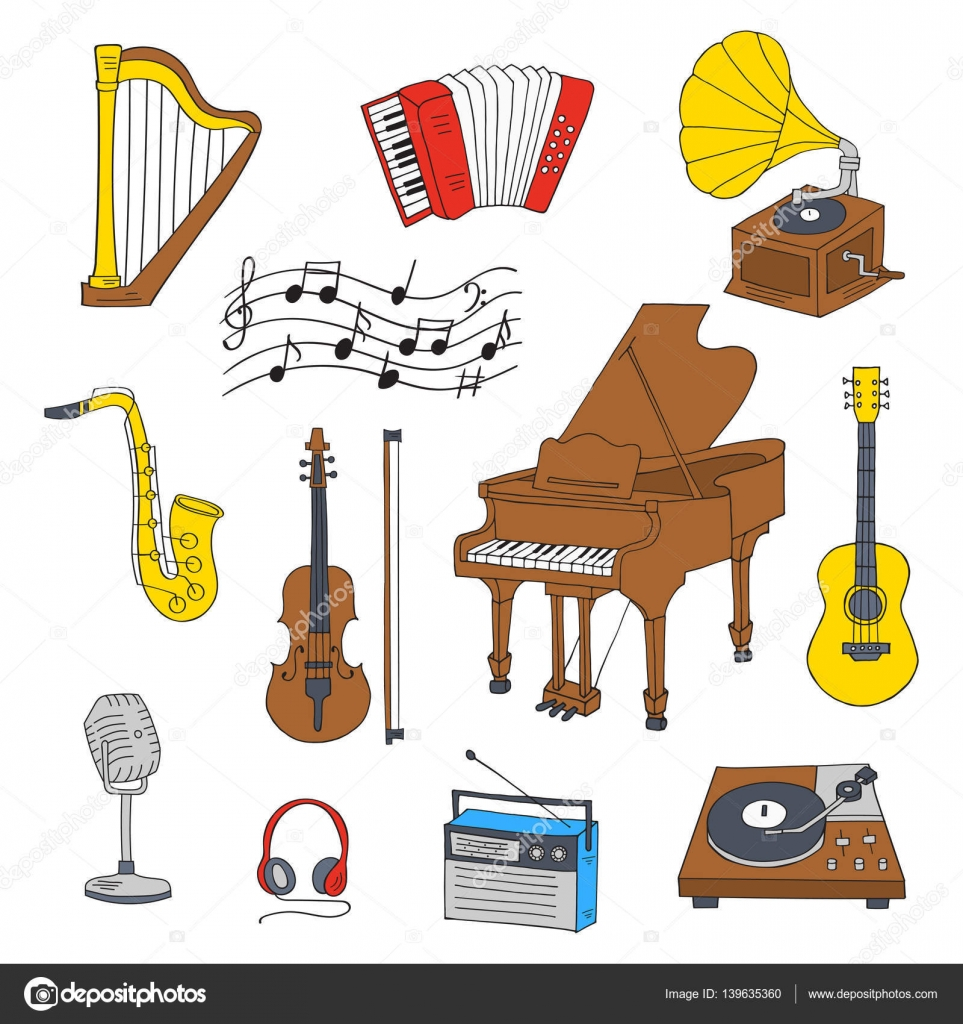 Musical Instruments And Symbols Stock Vector Tedted 139635360