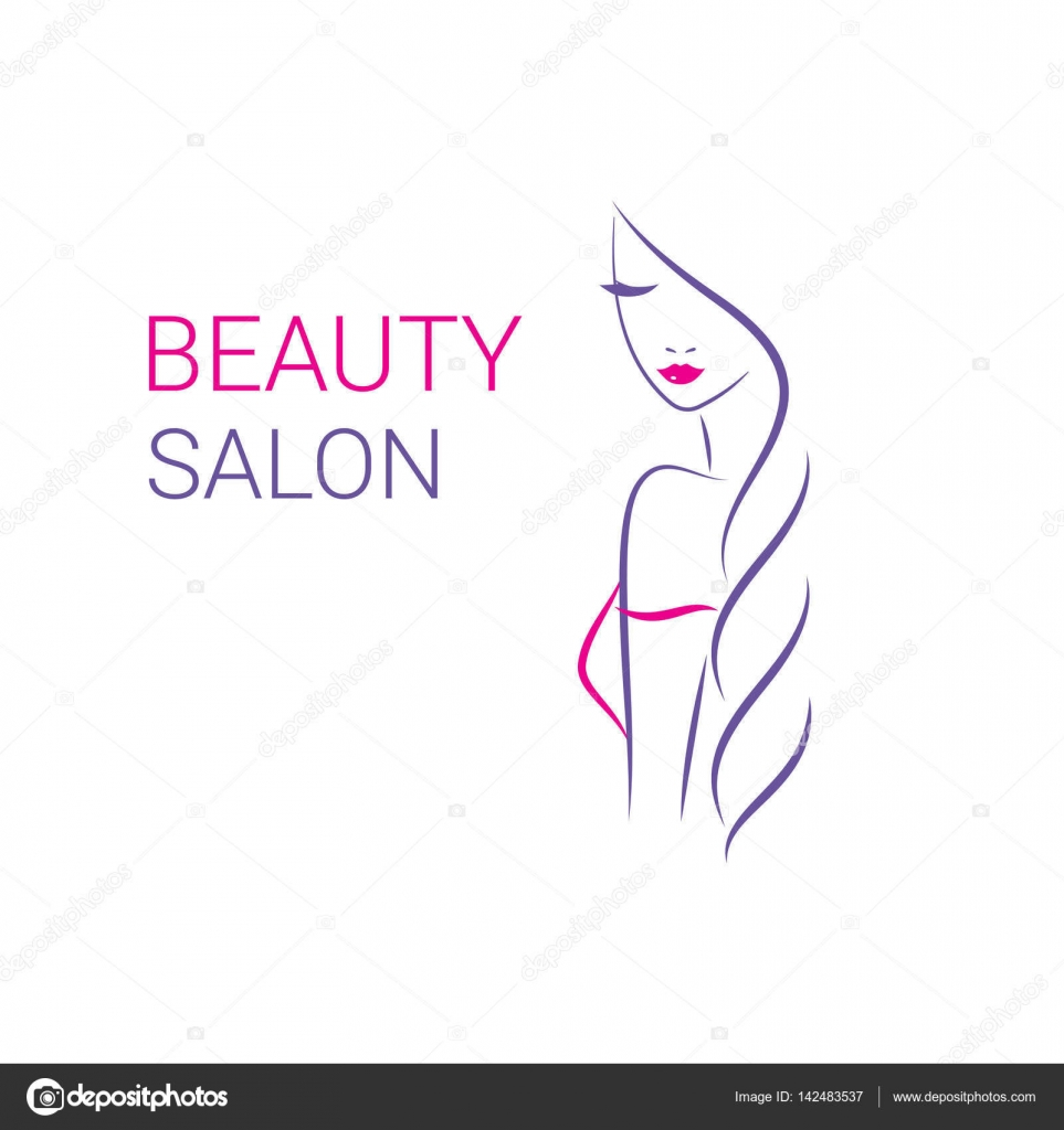 Logos de peluquerias y estetica | Hermosa mujer vector ...