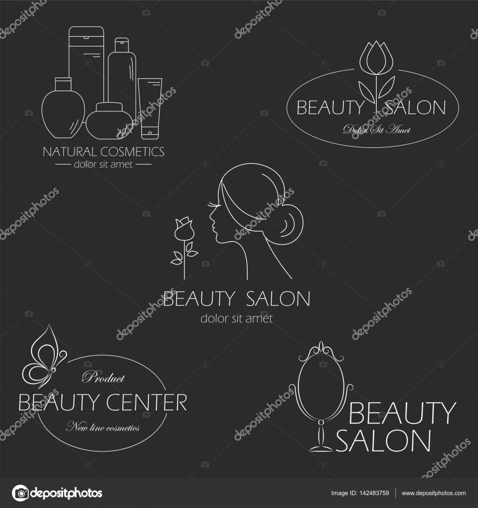 Set of beauty logo templates, labels, badges, design elements for ...