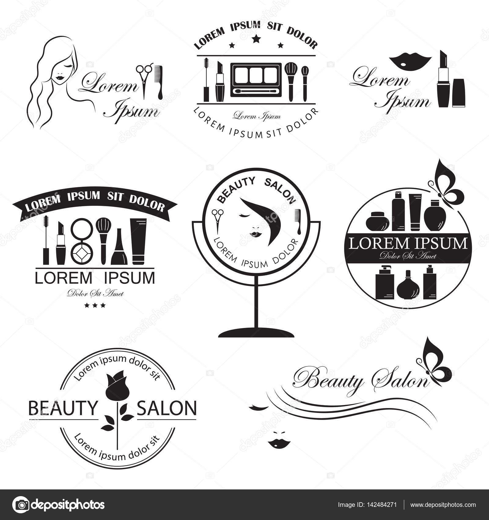 Satz von Schönheit-Logo-Vorlagen, Etiketten, Abzeichen, Design ...