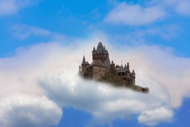 Castle in the air Fantasy castle in the clouds