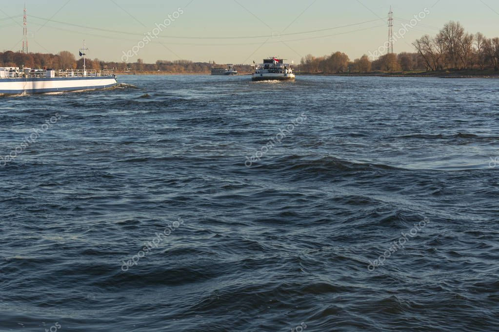 Ship traffic on the Rhine