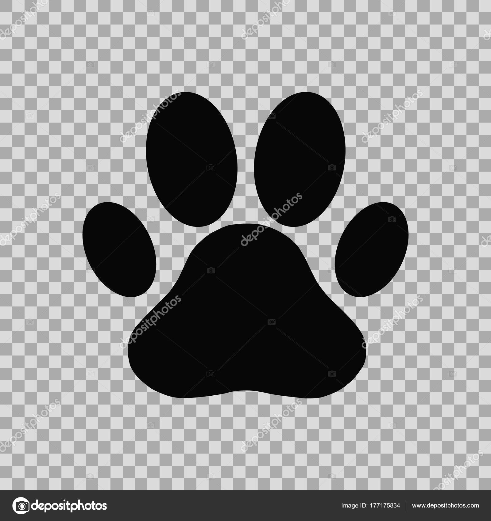 Dog Paw Print Stock Vector Androm 177175834