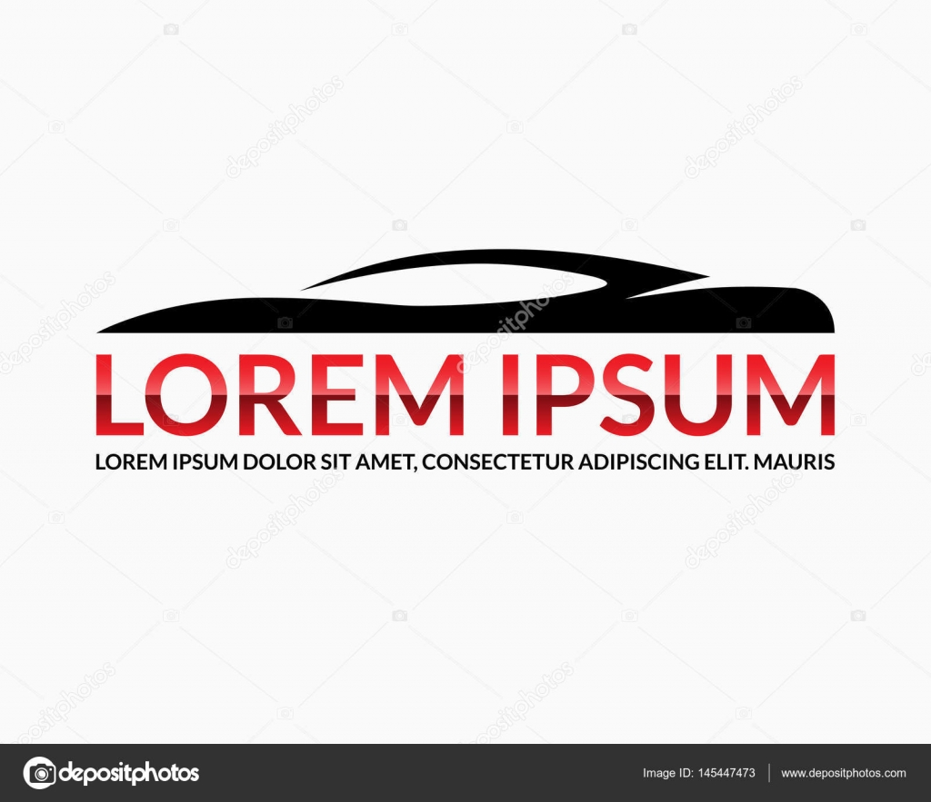 Car Logo Design Template Abstract Automobile Silhouette With Space