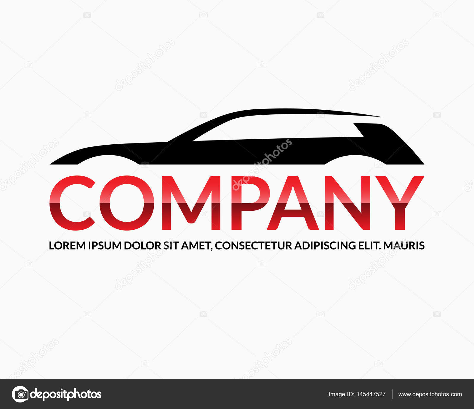 Modern Car Logo Design Template Abstract Automobile Silhouette With