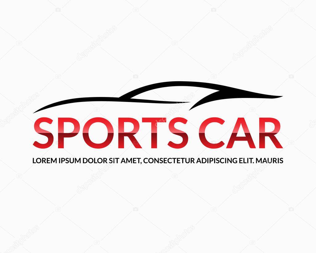 logo de voiture de sport silhouette automobile noire avec un espace pour le nom de la soci t. Black Bedroom Furniture Sets. Home Design Ideas