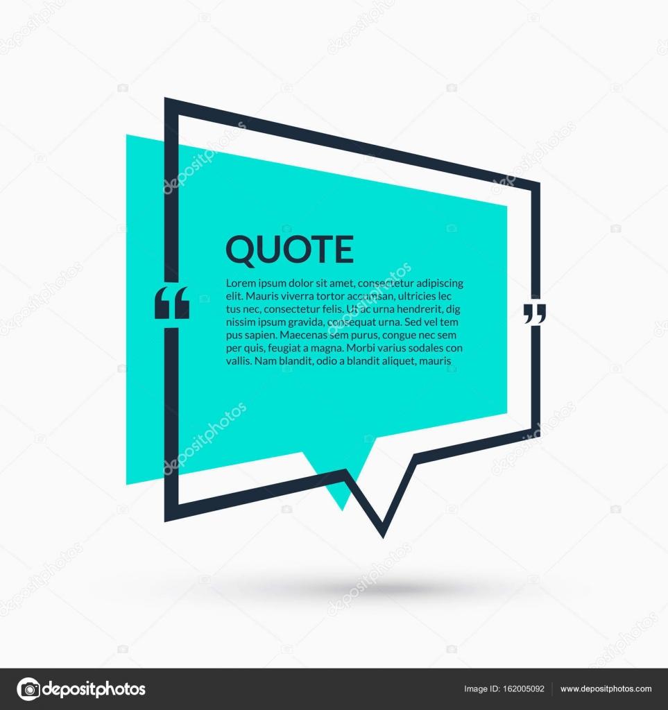 Zitat der Sprechblase, leere Vorlage, Text in Klammern, leeren ...