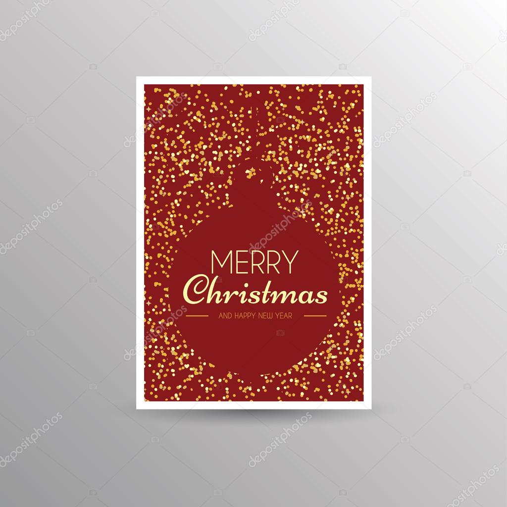 Christmas Card Template Stock Vector C S Amado 125919038