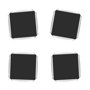 Blank photo frames set