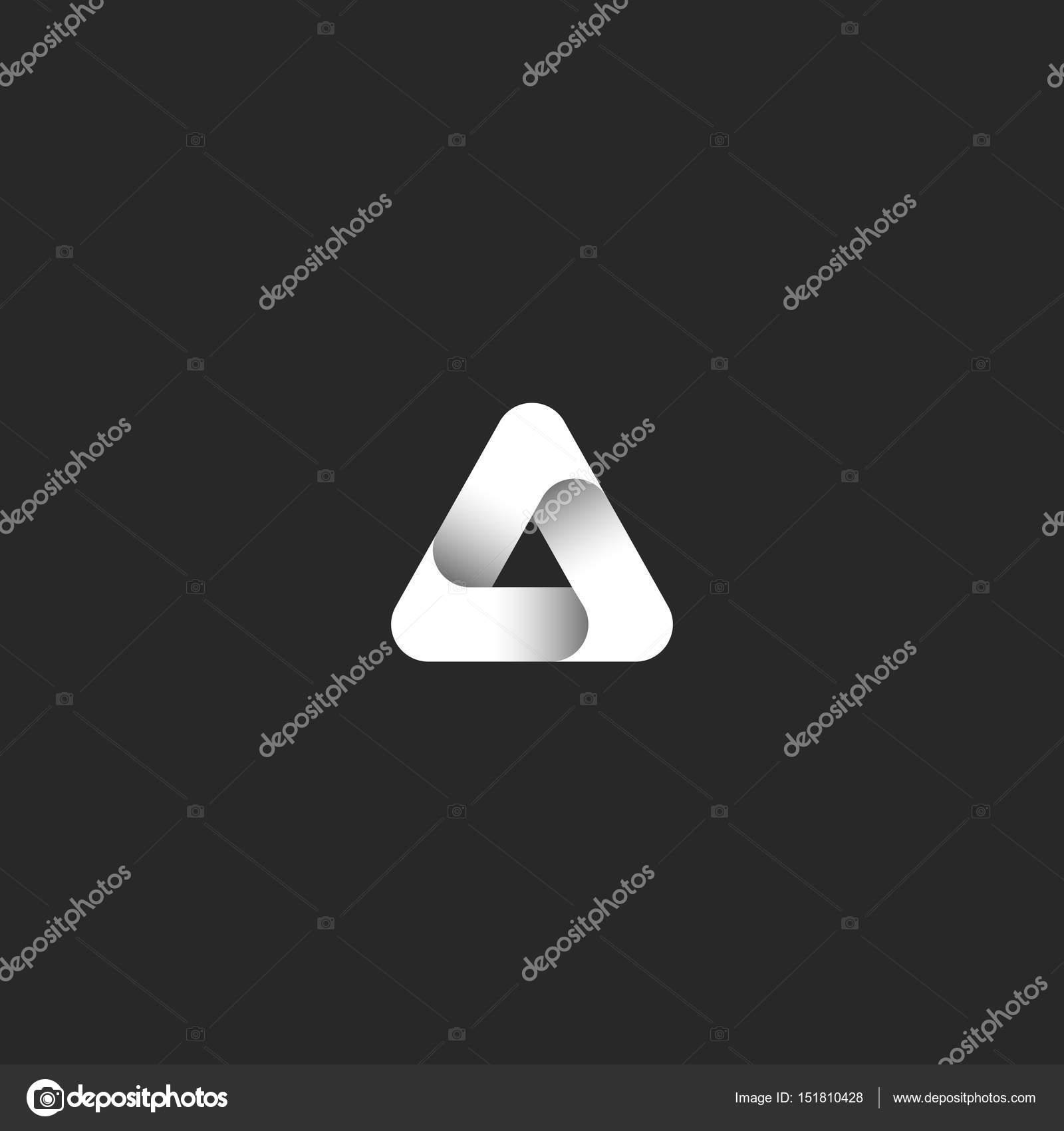 Extrêmement logo abstrait infini ruban dégradé noir et blanc style l'icône  BD15