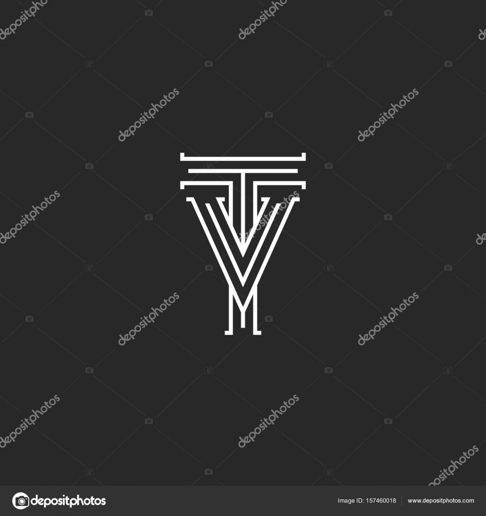 Tv letters logo medieval monogram black and white thin lines retro tv letters logo medieval monogram black and white thin lines retro style combination vintage initials vt together for wedding invitation emblem stopboris Choice Image