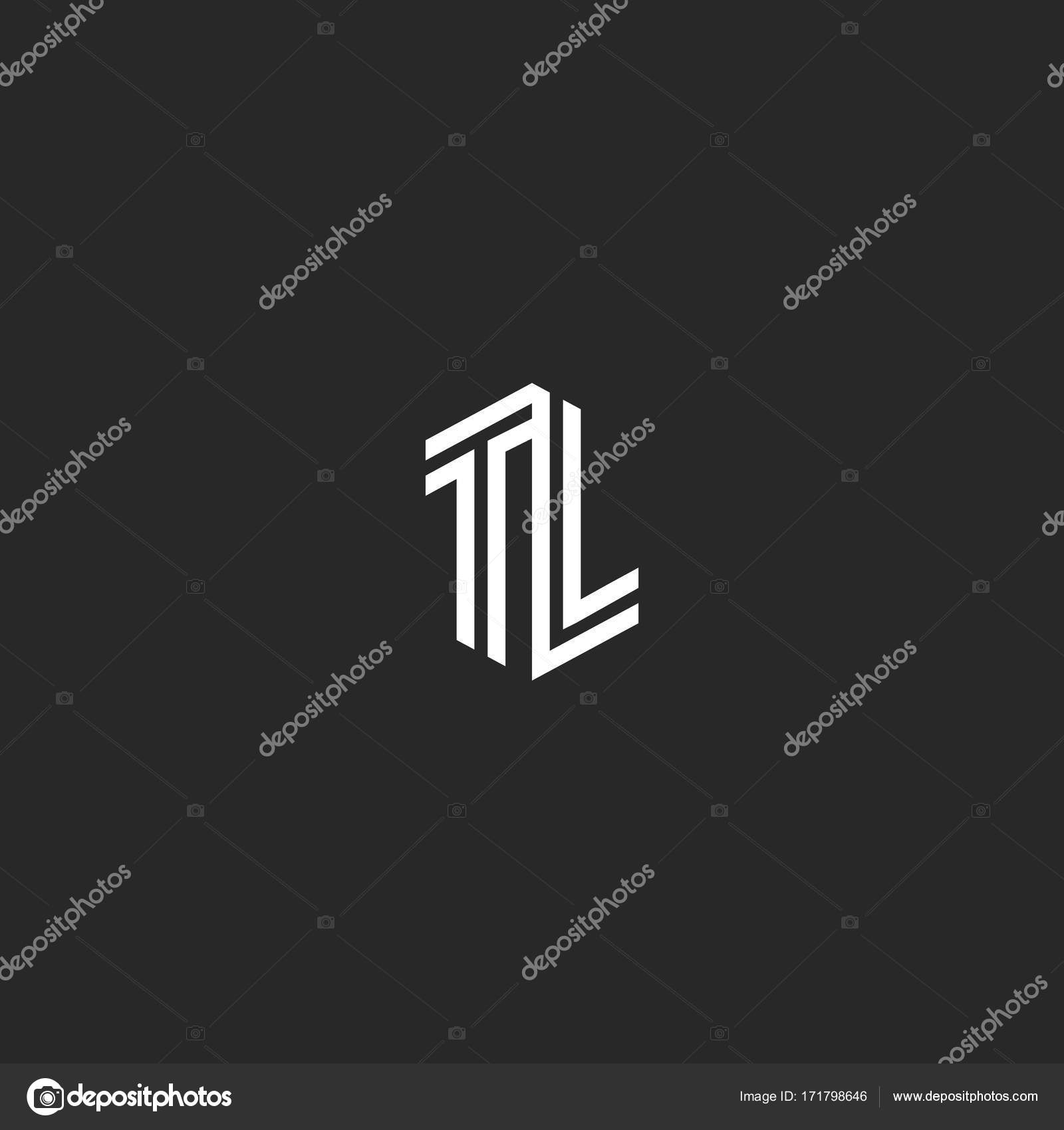 initials tl letters logo combination two capital letters t and l wedding emblem lt monogram