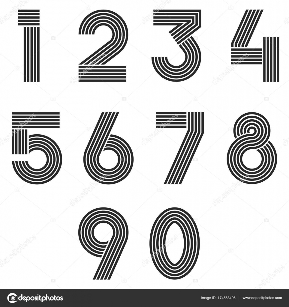 Number Set Made Of Colorful Sprinkles - Numbers 4 5 6 7 8 9 Stock ...
