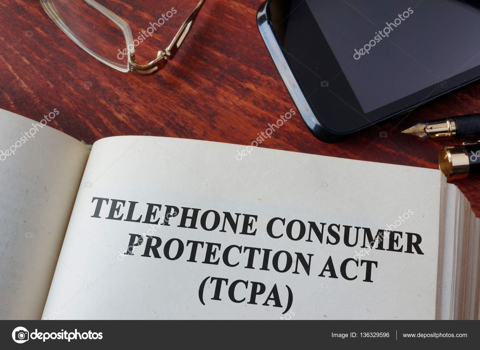 Book With Chapter The Telephone Consumer Protection Act Of 1991 TCPA Stock Image