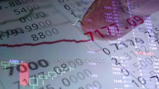 Obchodování na burze online na smartphone. Burzy finanční údaje.