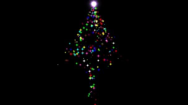 Barevné hvězdy ve tvaru vánočního stromku