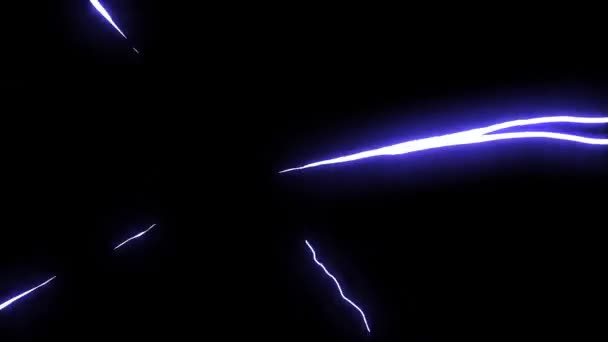 Radial energy rays motion graphics with dark background