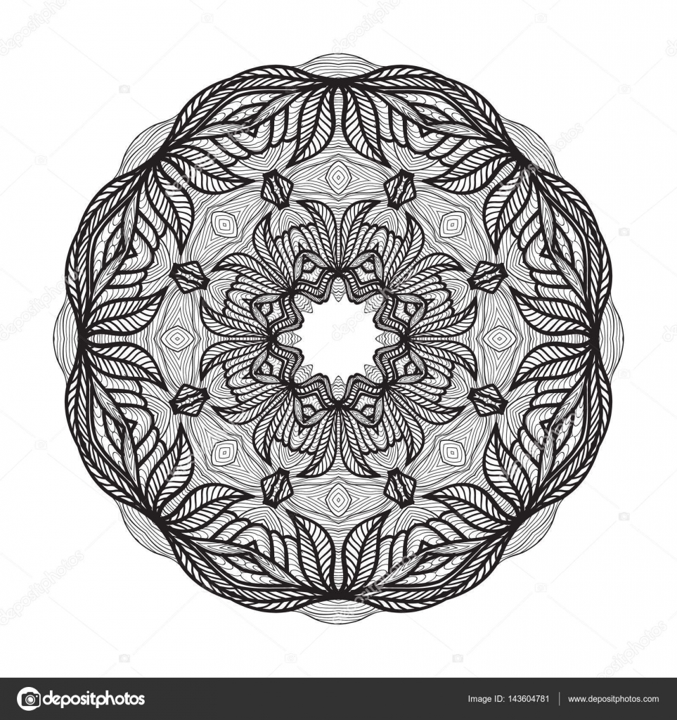 crazy mandala template for coloring book zendoodle round zentangle
