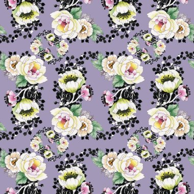Bright  background with peonies