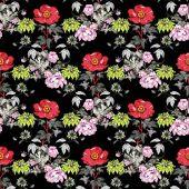 Fényképek Akvarell minta, melyet a színes virágok