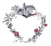Fotografie valentines day greeting card with floral heart